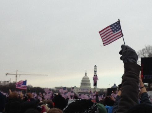 Taken by my friend Leslie at the Inauguration.